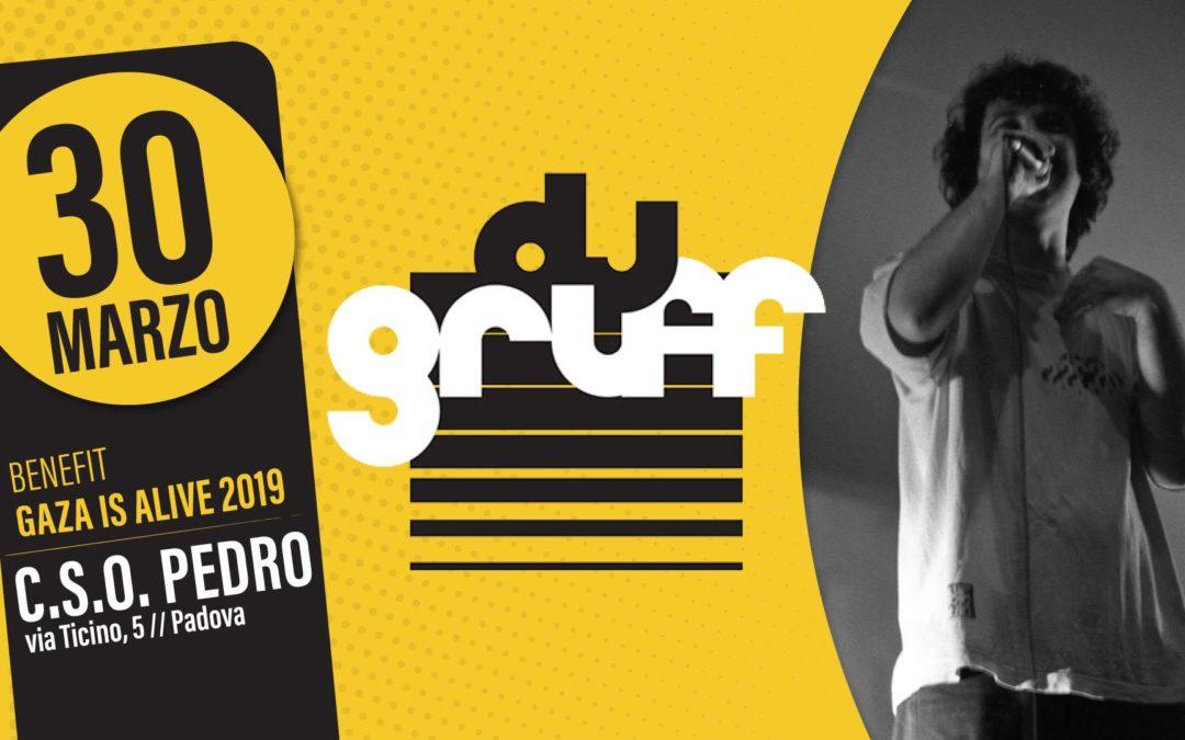 DJ GRUFF live // 30 Marzo // CSO Pedro