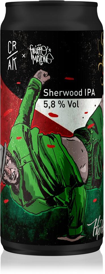Birra Ipa Birrificio Crak per Gaza is Alive - Lattina con disegno di Filippo Mozzone