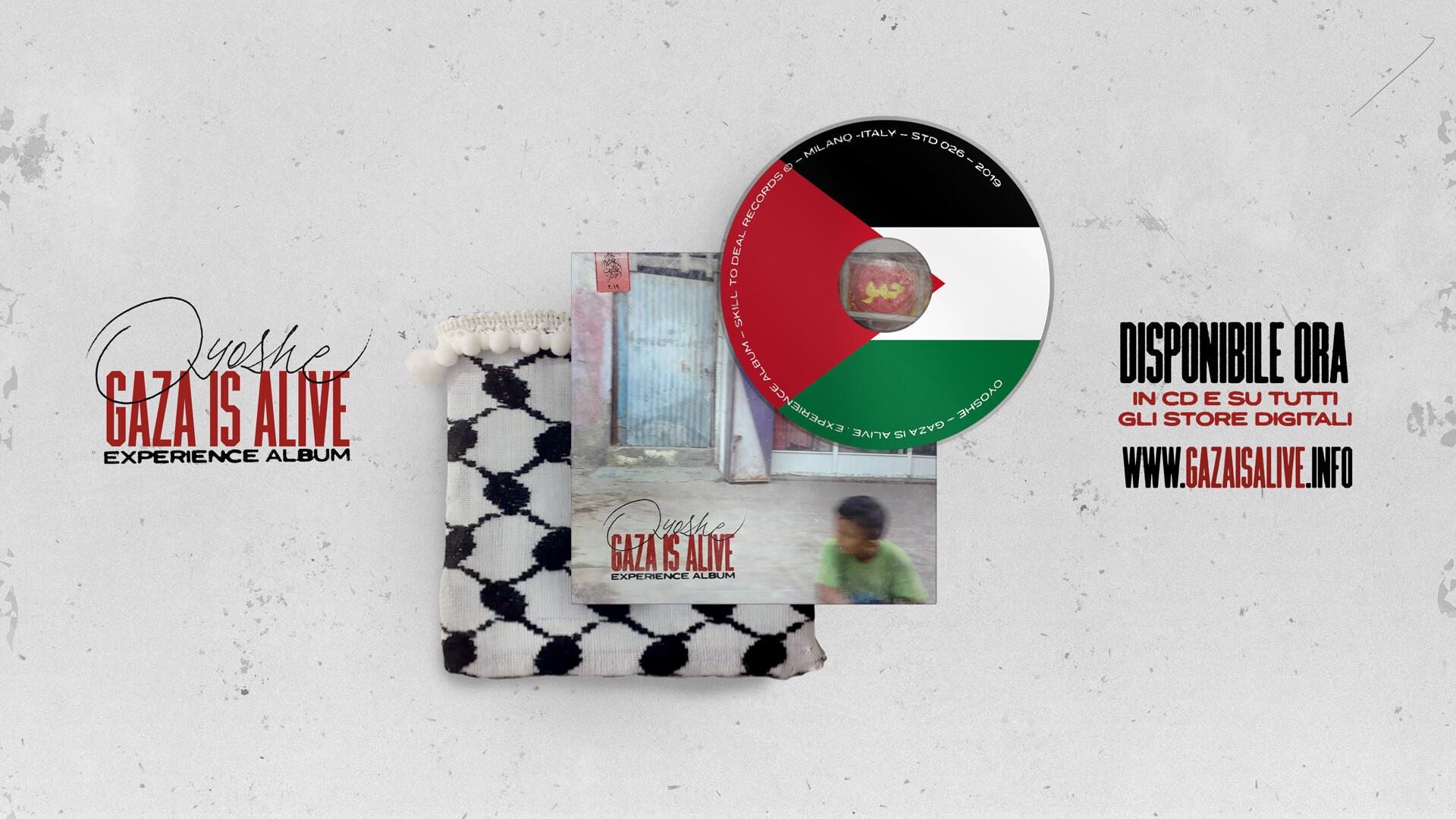 Gaza is alive - Experience Album - Copertina e banner uscita disco